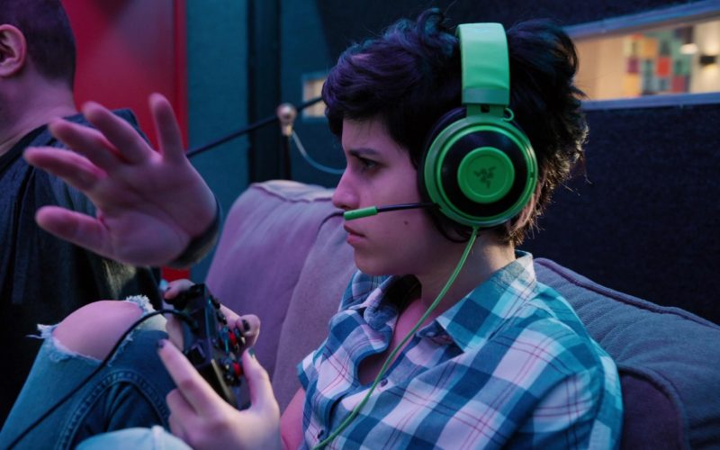 Razer Gaming Headset Used by Ashly Burch as Rachel in Mythic Quest Raven's Banquet Season 1 Episode 6 Non-Player Character (1)
