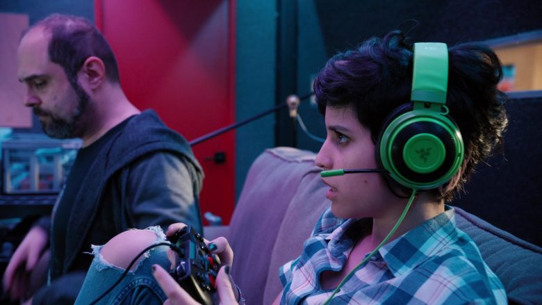 Razer Gaming Headset Used by Ashly Burch as Rachel in Mythic Quest Raven's Banquet Season 1 Episode 6 Non-Player Character (2)
