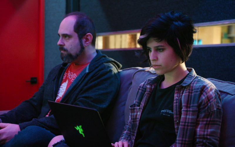 Razer Gaming Notebook Used by Ashly Burch as Rachel in Mythic Quest Raven's Banquet Season 1 Episode 8 Brendan