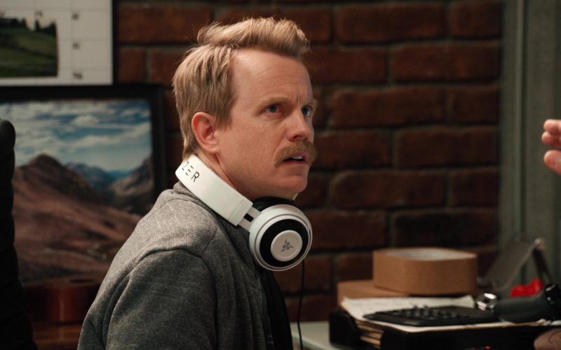 Razer Headset Used by David Hornsby as David in Mythic Quest Raven's Banquet Season 1 Episode 6 Non-Player Character (2020)