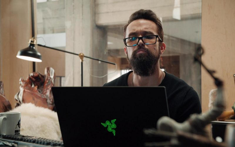 Razer Laptop Computer Used by Rob McElhenney as Ian Grimm in Mythic Quest Raven's Banquet Season 1 Episode 3 Dinner Party (3)