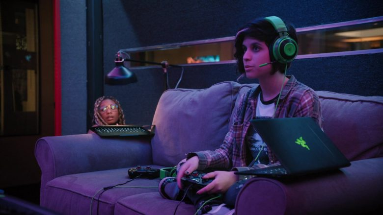 Razer Laptop and Headset Used by Ashly Burch as Rachel in Mythic Quest Raven's Banquet Season 1 Episode 2 (2)