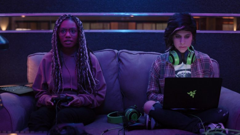 Razer Laptop and Headset Used by Ashly Burch as Rachel in Mythic Quest Raven's Banquet Season 1 Episode 2 (4)