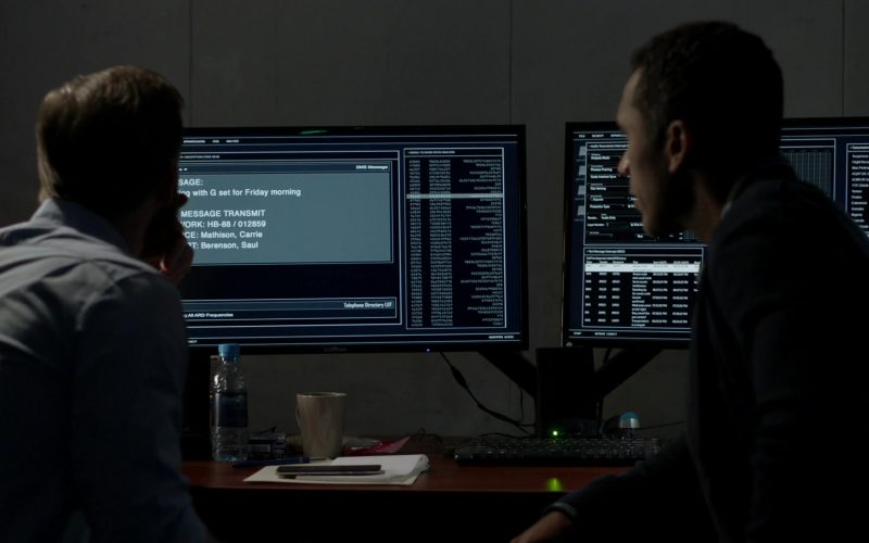 Samsung Monitors in Homeland Season 8 Episode 1 Deception Indicated (1)