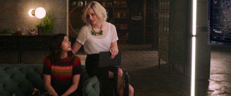 Sony Xperia Tablet Used by Elizabeth Banks as Rebekah 'Bosley' in Charlie's Angels (2019)