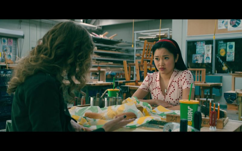 Subway Food Enjoyed by Lana Condor as Lara Jean Song Covey and Emilija Baranac as Gen (1 (3)