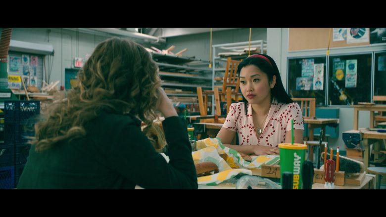 Subway Food Enjoyed by Lana Condor as Lara Jean Song Covey and Emilija Baranac as Gen (1)