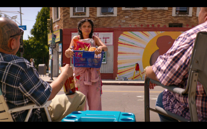 Takis Chips Held by Karrie Martin as Ana Morales in Gentefied S01E05 The Mural (2020)