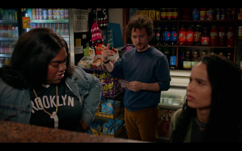 Takis Chips, Pepsi, Crush Soda Bottles in High Fidelity Season 1 Episode 2 Track 2