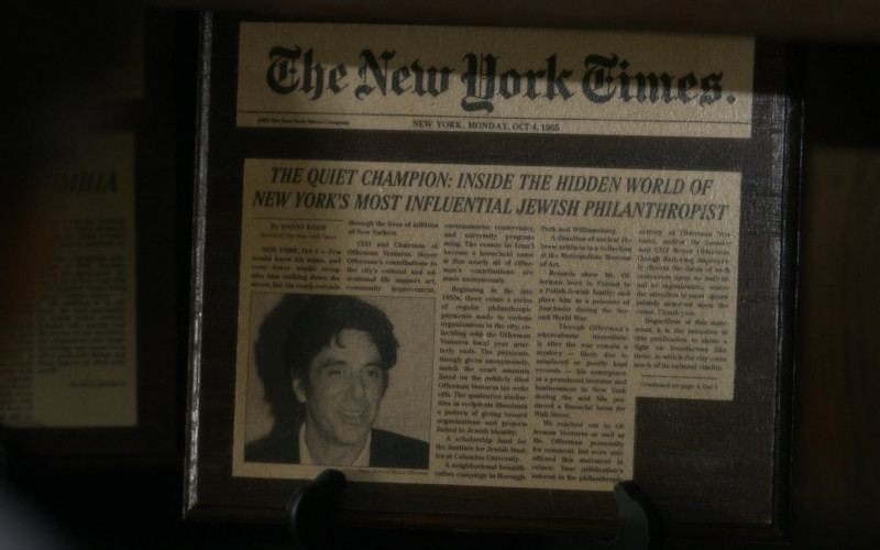 The New York Times Newspapers in Hunters S01E04 The Pious Thieves (1)