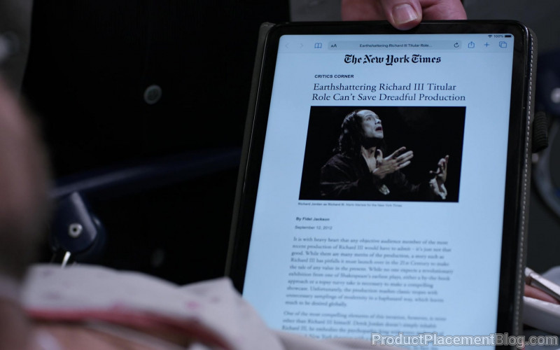 The New York Times Website in Chicago Med S05E15 I Will Do No Harm (2020)