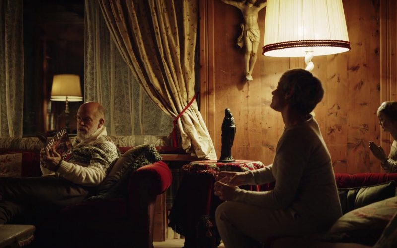 Vanity Fair Magazine Held by John Malkovich as Pope John Paul III (born John Brannox) in The New Pope Season 1 Episode 8 (202