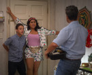 Adidas Floral Jacket & Shorts Outfit Worn by Jessica Marie Garcia as Jasmine Flores in On My Block (8)