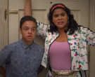 Adidas Floral Jacket & Shorts Outfit Worn by Jessica Marie Garcia as Jasmine Flores in On My Block (9)