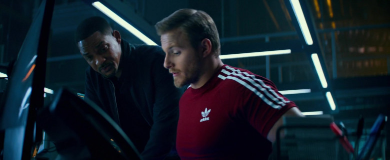 Adidas Red T-Shirt Worn by Alexander Ludwig as Dorn in Bad Boys for Life (2)
