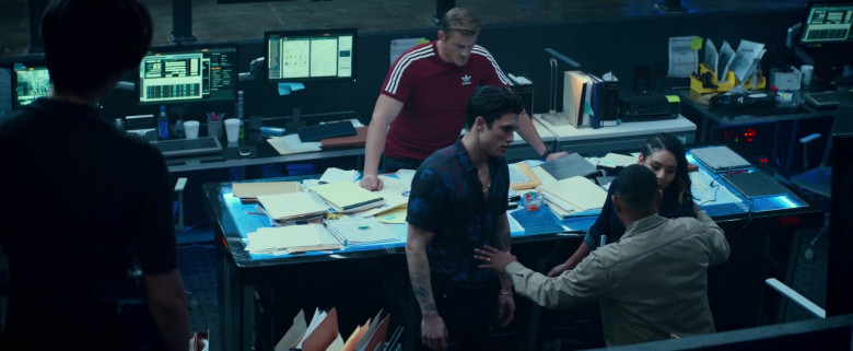 Adidas Red T-Shirt Worn by Alexander Ludwig as Dorn in Bad Boys for Life (4)