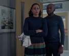 AllSaints Ramskull Blue Sweater Worn by Romany Malco as Rome Howard in A Million Little Things S02E19 (4)