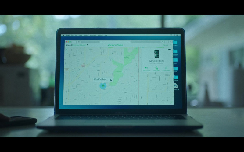 Apple iCloud Find My iPhone Application in Ozark S03E09 Fire Pink