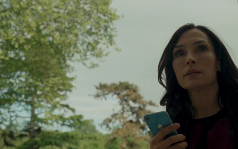 Apple iPhone Blue Smartphone Used by Famke Janssen in The Postcard Killings (2020)