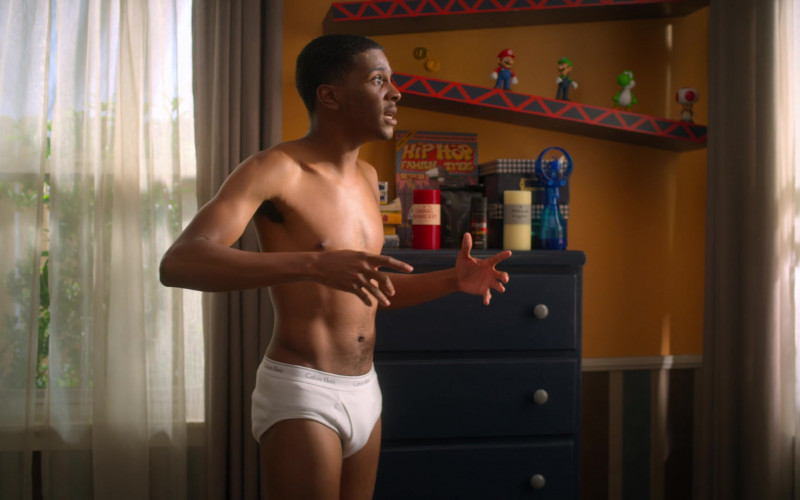 Calvin Klein White Underwear Worn by Brett Gray as Jamal Turner in On My Block (2)