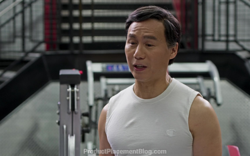 Champion Tee Worn by B. D. Wong in Awkwafina Is Nora from Queens S01E07 (1)