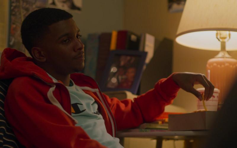 Champion Tee Worn by Brett Gray as Jamal Turner in On My Block S03E08