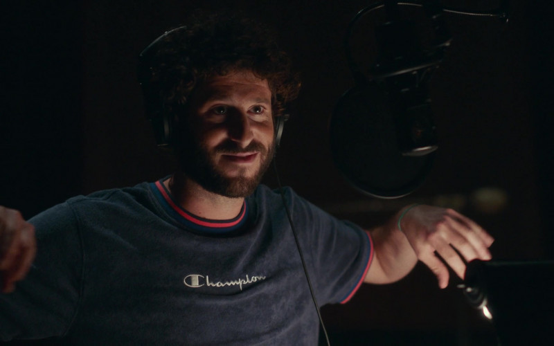 Champion Tee Worn by Lil Dicky in Dave S01E03 (4)