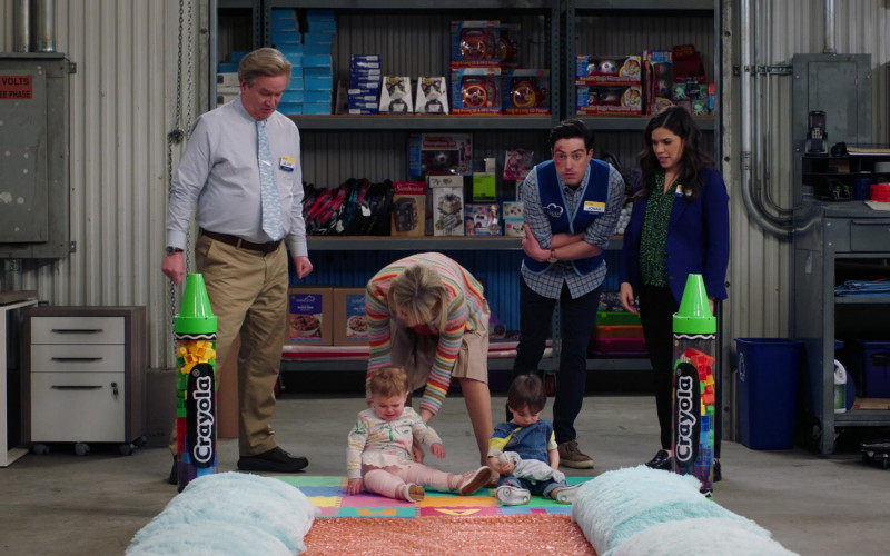 Crayola Crayon Tubes with Building Blocks in Superstore S05E18