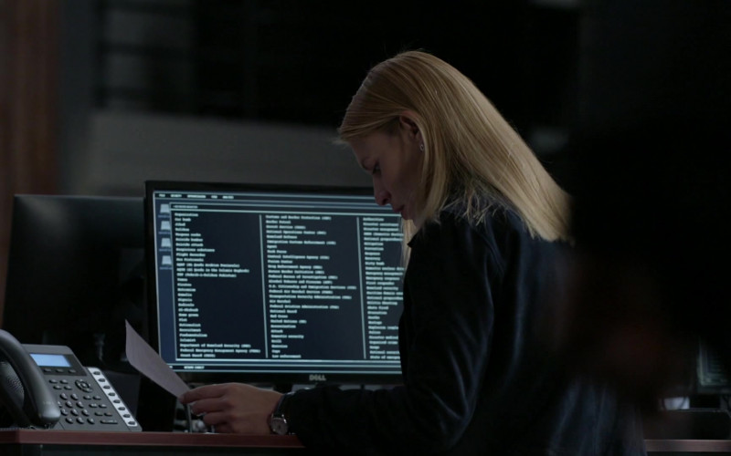 Dell Computer Monitor Used by Claire Danes in Homeland S08E06