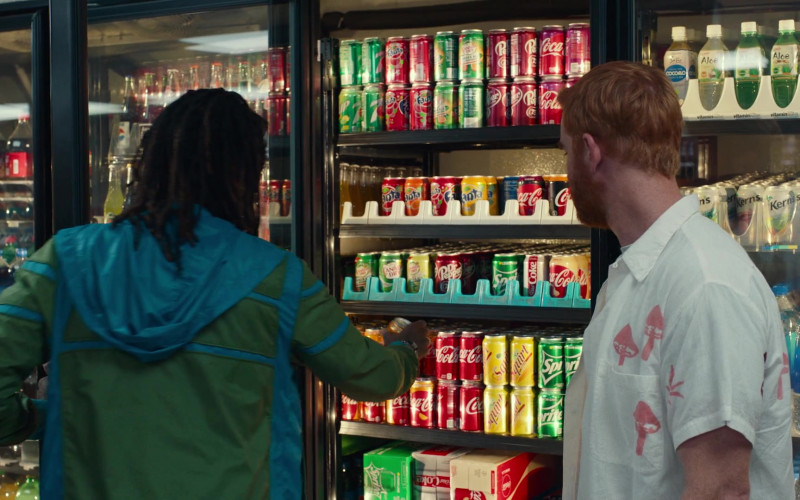 Fanta, Canada Dry, Dr Pepper, Coca-Cola, Squirt, Sprite, Kern's, Fiji Water in Dave S01E03