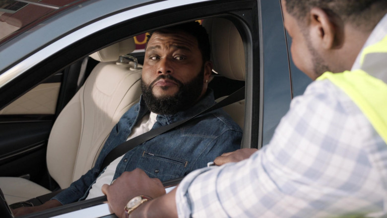 G-Star RAW Denim Jacket Worn by Anthony Anderson as Andre 'Dre' Johnson in Black-ish S06E19 (2)