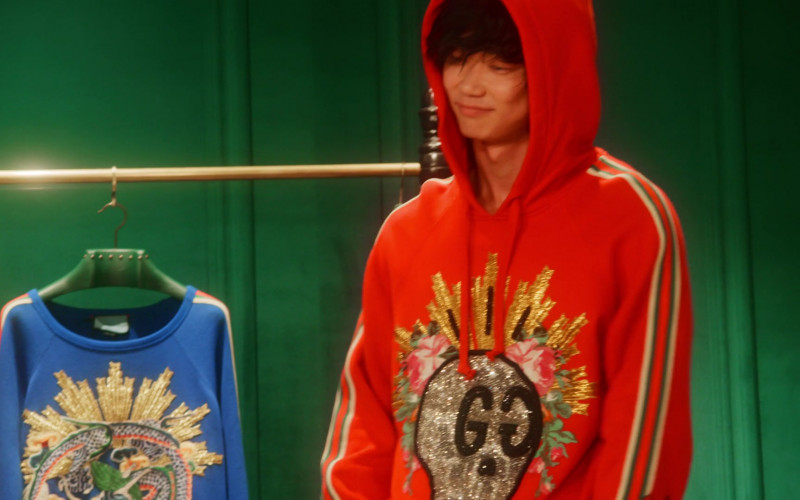 Gucci Men's Red Hoodie in Followers S01E03 Search