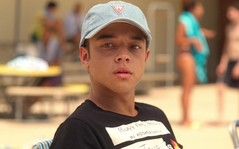 Guess Denim Cap Worn by Jason Genao as Ruby in On My Block S03E03 (4)