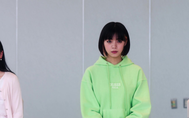 Guess Women's Green Hoodie in Followers S01E01 Hashtag (1)