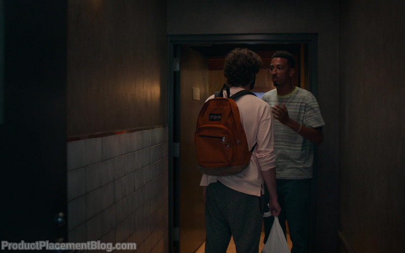 Jansport Orange Backpack Used by Lil Dicky in Dave S01E01 The Gander (2)