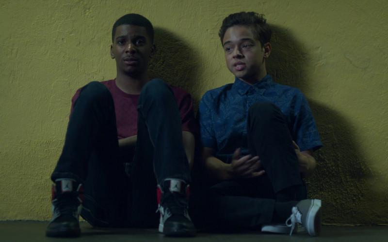 Jordan Sneakers Worn by Brett Gray as Jamal Turner in On My Block S03E07 (1)