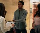 Lacoste Green Down Bomber Vest For Men in All Rise S01E18 (2)