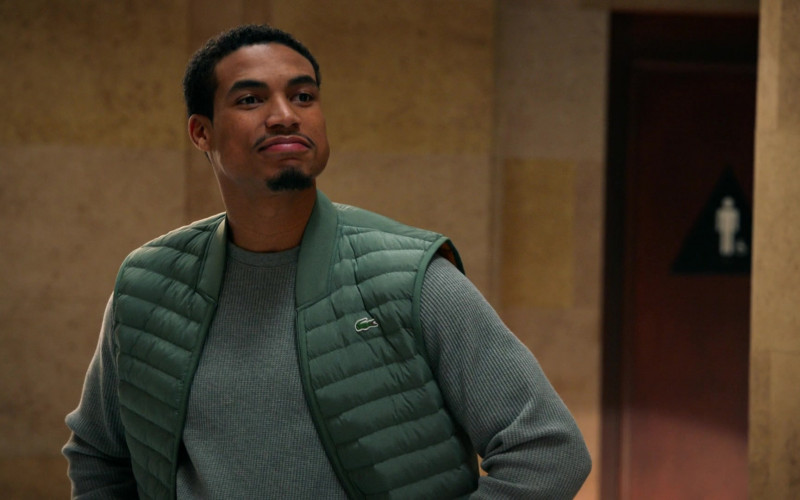 Lacoste Green Down Bomber Vest For Men in All Rise S01E18 (4)