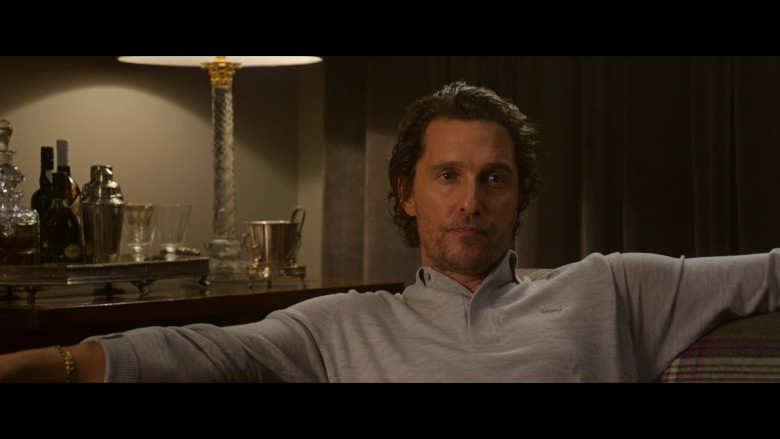 Lacoste Grey Long Sleeve Shirt Worn by Matthew McConaughey in The Gentlemen (2)