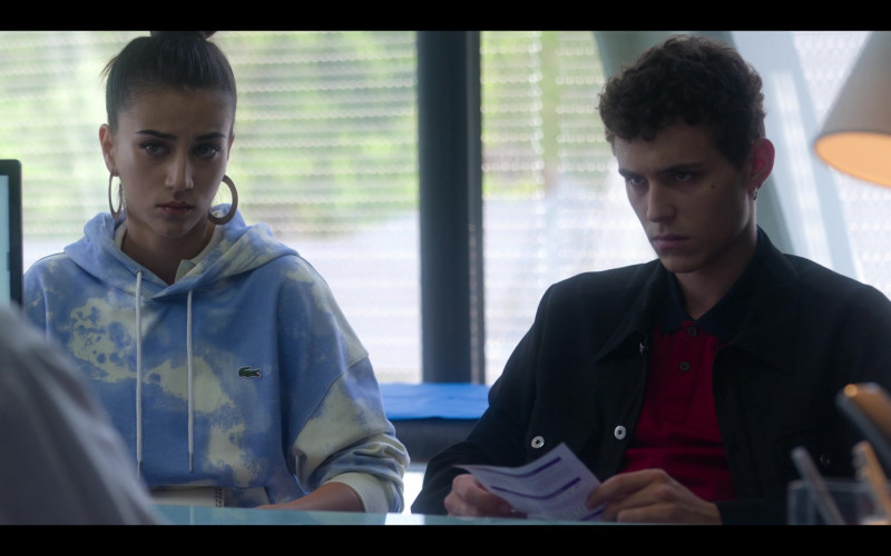 Lacoste Hoodie Worn by Danna Paola as Lu in Elite S03E02 (2)