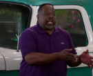 Lacoste Purple Polo Shirt Worn by Cedric the Entertainer in The Neighborhood S02E18 (2)