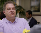Lacoste Purple Polo Shirt Worn by Jeff Garlin in Curb Your Enthusiasm S10E09 (1)