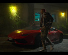 Lamborghini Red Sports Car and New Balance White Sneakers in...