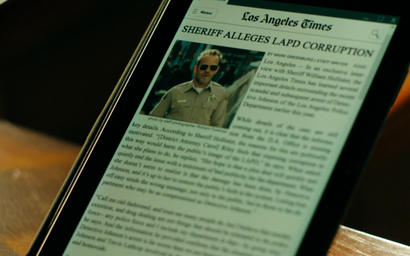 Los Angeles Times Website in Deputy S01E17