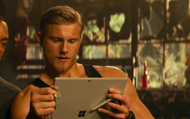 Microsoft Surface Tablet Used by Alexander Ludwig as Dorn in Bad Boys for Life