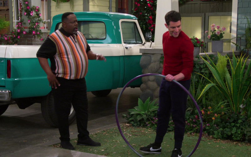 Nike Black Shoes Worn by Max Greenfield in The Neighborhood S02E18