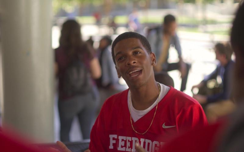 Nike Red Jersey Worn by Brett Gray as Jamal Turner in On My Block S03E08