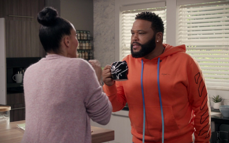 Off-White Orange Hoodie Worn by Anthony Anderson in Black-ish S06E18 (1)