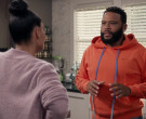 Off-White Orange Hoodie Worn by Anthony Anderson in Black-ish S06E18 (2)