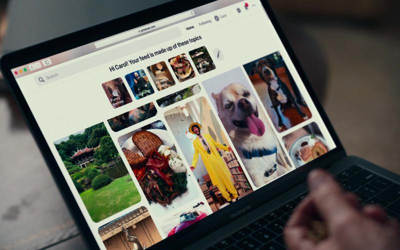 Pinterest.com Website & Apple MacBook Air in Dave S01E04